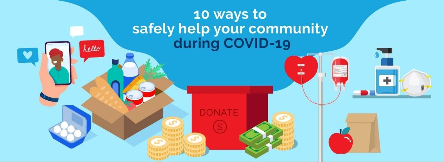 !0 ways to safely help your community during COVID-19