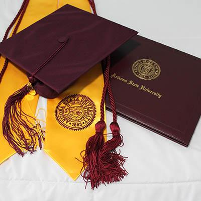 Arizona State University mortar board and book